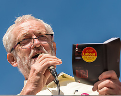Labour party leader Jeremy Corbyn MP speaking at a leadership campaign rally held at Stoke on Trent town centre<br /> <br /> <br /> (c) John Baguley   Edinburgh Elite media