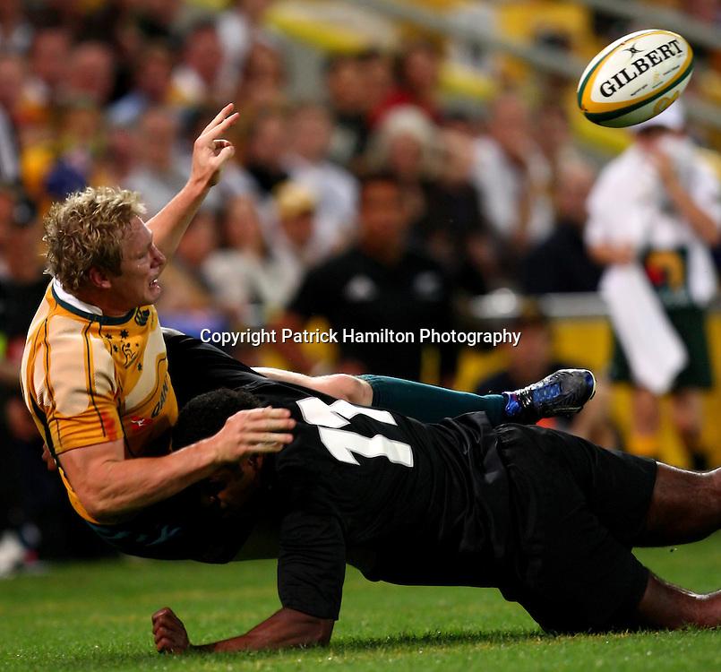 Peter Hynes.All Blacks v Australia Tri Nations Rugby Union Test Match. Suncorp Stadium ,Brisbane. Australia,Saturday 13 September 2008 . Photo: PHOTOSPORT
