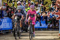 Two overall leaders Nairo Quintana (COL,MOV) and Rigoberto Uran Uran (COL,OPQ) at Giro d'Italia, Monte Zoncolan, Italy, 31th May 2014, Photo by Thomas van Bracht / PelotonPhotos.com