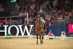Carvalho Goncalo, (POR), Batuta<br /> Grand Prix Freestyle <br /> Reem Acra FEI World Cup Dressage <br /> London International Horse Show<br /> © Hippo Foto - Jon Stroud