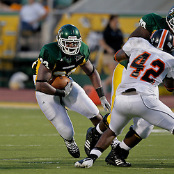 10 September 2009:  Southeastern Louisiana Lions running back Zeke Jones (33) runs with the ball during a game between Southeastern Louisiana University Lions and Union College at Strawberry Stadium in Hammond, Louisiana.
