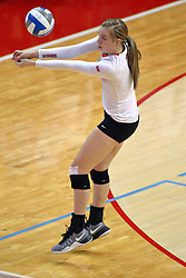 18 November 2016: Aly Dawson  during an NCAA women's volleyball match between the Northern Iowa Panthers and the Illinois State Redbirds at Redbird Arena in Normal IL (Photo by Alan Look)