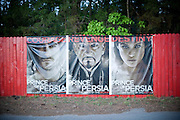 Movie Posters at Raleigh Road Drive-in in Henderson, NC.