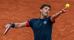 June 1, 2018 - Paris, Ile-de-France, France - Dominic Thiem of Austria serves against Matteo Berrettini of Italy during the third round at Roland Garros Grand Slam Tournament - Day 6 on June 01, 2018 in Paris, France. (Credit Image: © Robert Szaniszlo/NurPhoto via ZUMA Press)