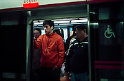 In the subway of Beijing. Line 5 Dongsi station. 2008.