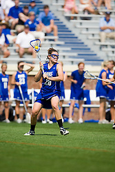 Duke Blue Devils M/A Emma Hamm (26).  The Virginia Cavaliers defeated the Duke Blue Devils 10-9 in the semi finals of the Women's 2008 Atlantic Coast Conference tournament at the University of Virginia's Scott Stadium in Charlottesville, VA on April 25, 2008.
