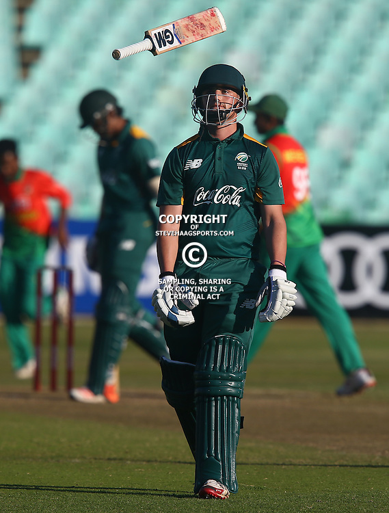 DURBAN, SOUTH AFRICA ,Sunday 19th July, Liam Smith of SA u19s during the  South African under 19s vs the Bangladesh under 19s Cricket Series the last ODI match at Sahara Stadium Kingsmead Sunday 19th July Durban (Photo by Steve Haag)
