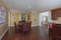 Interior design photo of Brightview Fallsgrove community room in Gaithersburg MD by Jeffrey Sauers of Commercial Photographics