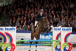 de Boer Lennard, (NED), Graziano<br /> Springen Klasse L<br /> KWPN Hengstenkeuring - 's Hertogenbosch 2016<br /> © Hippo Foto - Dirk Caremans<br /> 04/02/16