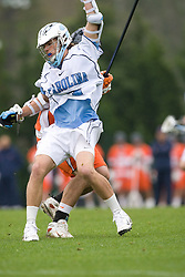 05 April 2008: North Carolina Tar Heels attackman Billy Bitter (4) during a 11-12 OT loss to the Virginia Cavaliers on Fetzer Field in Chapel Hill, NC.