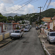 A street in Guayama, Puerto Rico. Right now, Zika is spreading rapidly in Puerto Rico and pregnant women are at risk for becoming infected with Zika which can cause microcephaly and other birth defects. If the current trends continue, at least 1 in 4 people, including women who become pregnant, may become infected with Zika.