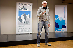 France Zupan at the Alpine Association of Slovenia award ceremony for the most successful in alpinism, sports and ice climbing and turning skiing in 2017, on January 31, 2018 in Gospodarsko raztavisce, Ljubljana, Slovenia. Photo by Urban Urbanc / Sportida