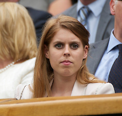 LONDON, ENGLAND - Tuesday, June 28, 2011: Beatrice Elizabeth Mary Windsor, Princess Beatrice of York watch from the Royal Box on Centre Court during the Ladies' Singles Quarter-Final on day eight of the Wimbledon Lawn Tennis Championships at the All England Lawn Tennis and Croquet Club. (Pic by David Rawcliffe/Propaganda)
