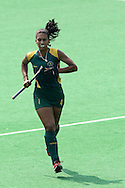 farah Fredericks for RSA during the women's hockey match of the The Commonwealth Games between South Africa and Trinidad and Tobago held at the Stadium in New Delhi, India on the  October 2010..Photo by:  Ron Gaunt/SPORTZPICS/PHOTOSPORT