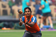 Mithali Raj captain of India before the start of the match the third women's one day International ( ODI ) match between India and Australia held at the Reliance Cricket Stadium in Vadodara, India on the 18th March 2018<br /> <br /> Photo by Vipin Pawar / BCCI / SPORTZPICS