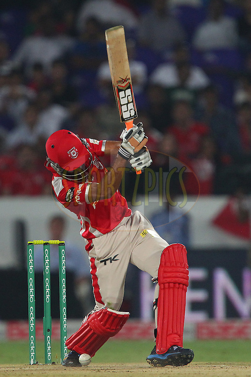Manan VOHRA of the Kings XI Punjab  during the second semi final match of the Oppo Champions League Twenty20 between the Kings XI Punjab and the Chennai Superkings held at the Rajiv Gandhi Cricket Stadium, Hyderabad, India on the 2nd October 2014<br /> <br /> Photo by:  Ron Gaunt / Sportzpics/ CLT20<br /> <br /> <br /> Image use is subject to the terms and conditions as laid out by the BCCI/ CLT20.  The terms and conditions can be downloaded here:<br /> <br /> http://sportzpics.photoshelter.com/gallery/CLT20-Image-Terms-and-Conditions-2014/G0000IfNJn535VPU/C0000QhhKadWcjYs