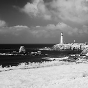 Lighthouse - Pigeon Point State Park, CA - Infrared Black & White
