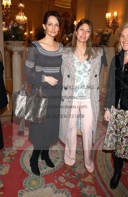 Left to right, SAFFRON ALDRIDGE, EVE HENDERSON and DORA LOEWENSTEIN at a ladies lunch in aid of the NSPCC held at The Ritz, Piccadilly, London on 7th March 2006.<br />