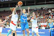 DESCRIZIONE : Riga Latvia Lettonia Eurobasket Women 2009 Quarter Final Spagna Italia Spain Italy<br /> GIOCATORE : Chiara Pastore<br /> SQUADRA : Italia Italy<br /> EVENTO : Eurobasket Women 2009 Campionati Europei Donne 2009 <br /> GARA : Spagna Italia Spain Italy<br /> DATA : 17/06/2009 <br /> CATEGORIA : super tiro<br /> SPORT : Pallacanestro <br /> AUTORE : Agenzia Ciamillo-Castoria/M.Marchi<br /> Galleria : Eurobasket Women 2009 <br /> Fotonotizia : Riga Latvia Lettonia Eurobasket Women 2009 Quarter Final Spagna Italia Spain Italy<br /> Predefinita :
