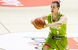 Klemen Prepelic of Slovenia during friendly basketball match between National teams of Slovenia and Georgia in day 2 of Adecco Cup 2014, on July 25, 2014 in Dvorana OS 1, Murska Sobota, Slovenia. Photo by Vid Ponikvar / Sportida.com