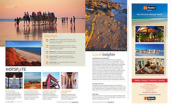 Tear Sheet - Scoop Traveller, July - December 2012.  Images: Cable Beach camels, James Price Point and Johnny Chi Lane