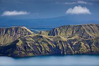 Fogrufjoll Mountains (Beautiful Mountains) by lake Langisjor. View from Mount Breidbakur. Fögrufjöll við Langasjó, útsýni frá Breiðbak.
