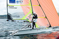 Emmanuel Dyen and Stephane Christidis (FRA), Sailing Olympic Test Event, 49er men's skiff Class, Weymouth