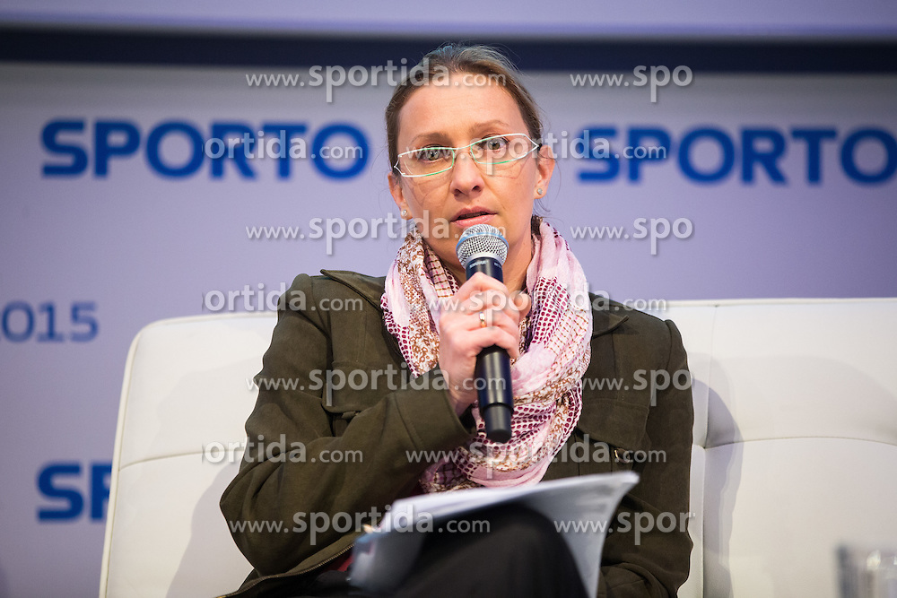 Polona Skrbec (Zavarovalnica Triglav) during Sports marketing and sponsorship conference Sporto 2015, on November 19, 2015 in Hotel Slovenija, Congress centre, Portoroz / Portorose, Slovenia. Photo by Vid Ponikvar / Sportida