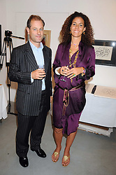 VISCOUNT CHELSEA and PIPPA SMALL at an exhibition in aid of the Turquoise Mountain Jewellery Programme at the Maddox Gallery, 52 Brook's Mews, ondon W1 on 9th September 2008.