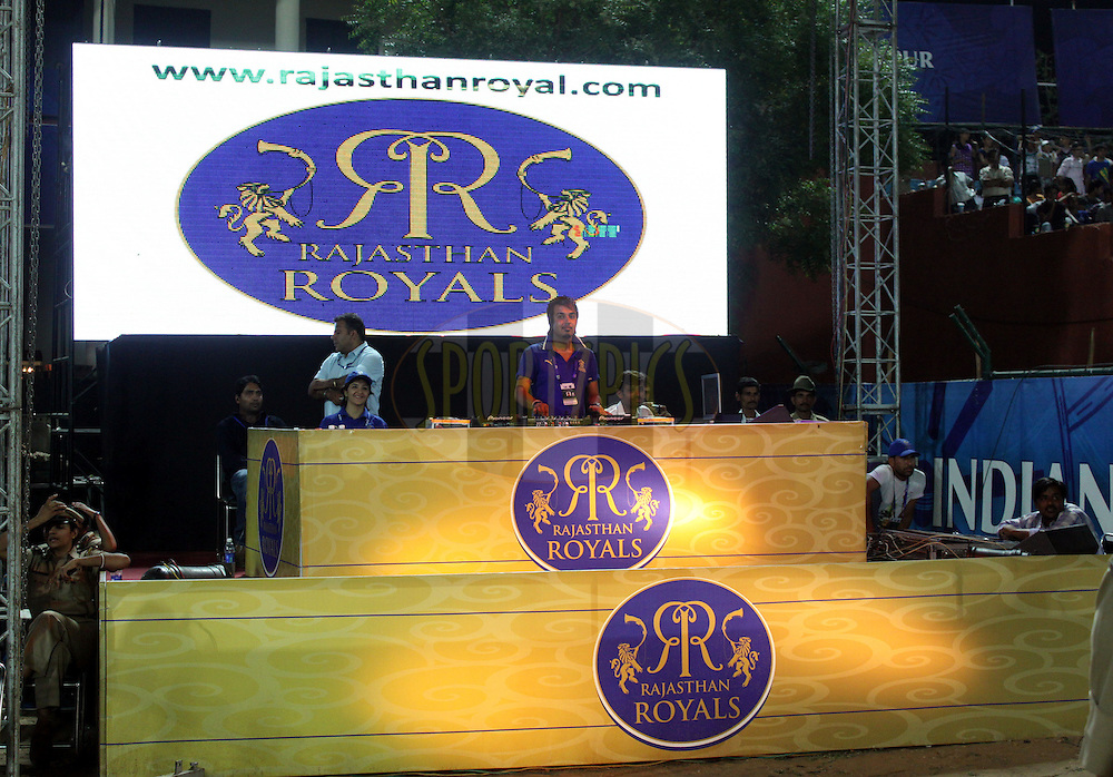 DJ of Rajasthan Royals during match 28 of the the Indian Premier League ( IPL ) Season 4 between the Rajasthan Royals and the Kochi Tuskers Kerala held at the Sawai Mansingh Stadium, Jaipur, Rajatshan, India on the 24th April 2011..Photo by Sandeep Shetty/BCCI/SPORTZPICS.