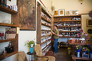 The Meadow, Portland, OR. Store owner Mark Bitterman in his shop, The Meadow, a salt, chocolate, wine and flower shop in the North Mississippi neighborhood of Portland, OR