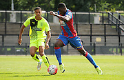 Sullay KaiKai charging forward during the U21 Professional Development League match between Crystal Palace U21s and Huddersfield U21s at Imperial Fields, Tooting, United Kingdom on 7 September 2015. Photo by Michael Hulf.