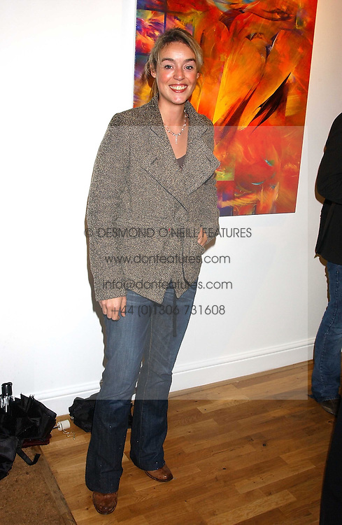 TV director ROSIE SCHELLENBERG at an exhibition of art by Jeffrey Kroll entitled Imirage held at the Arndean Gallery, Cork Street, London on 19th October 2005.<br />
