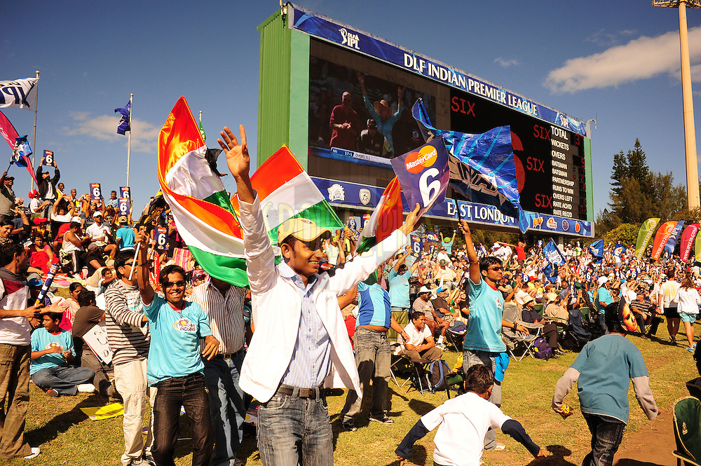EAST LONDON, SOUTH AFRICA - 1 May 2009.  Spectators during the  IPL Season 2 match between the Mumbai Indians and the Kolkata Knight Riders held at Buffalo Park in East London. South Africa.....