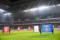 Vue generale Grand Stade de Lille - Fanion Lille / Fanion Paris Saint Germain - 03.12.2014 - Lille / Paris Saint Germain - 16eme journee de Ligue 1 -<br />