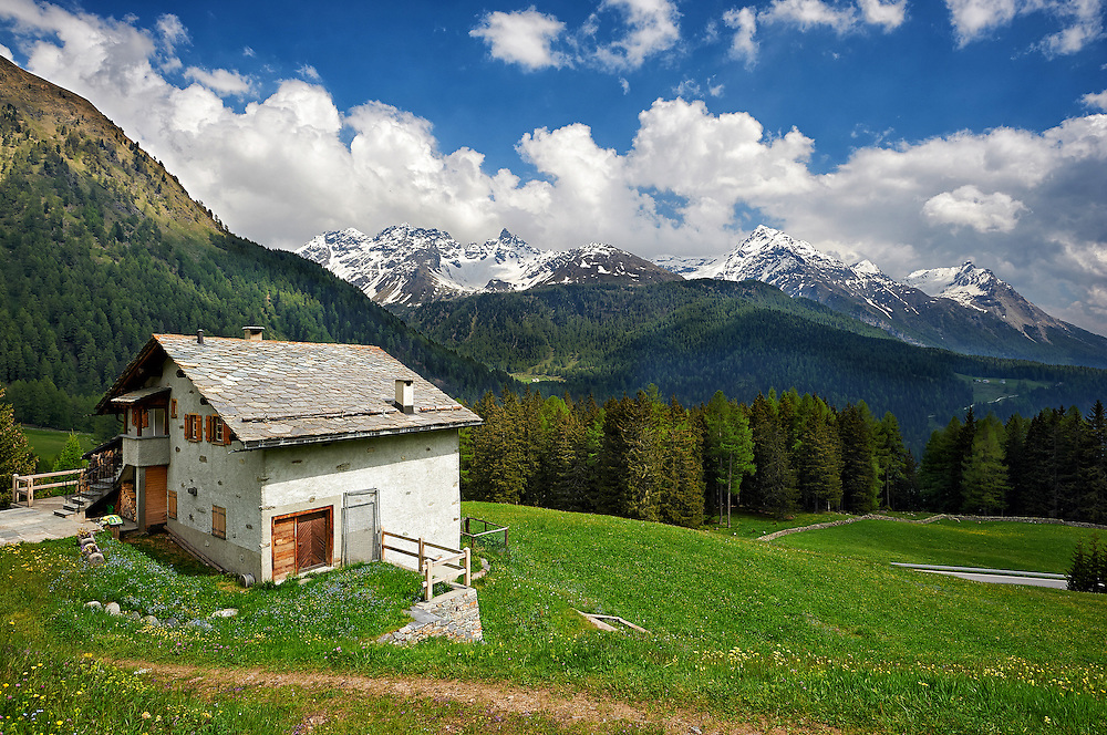 Switzerland - House in Bernina Pass