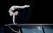 Amaluna from Cirque du Soleil at The Royal Albert Hall, London, <br /> Great Britain <br /> performance <br /> 15th January 2016 <br /> <br /> Water Bowl and Miranda - Iulilia Mykhailova<br /> <br /> <br /> Photograph by Elliott Franks <br /> Image licensed to Elliott Franks Photography Services