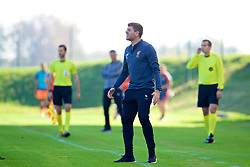 LENDAVA, SLOVENIA - Tuesday, October 17, 2017: Liverpool's Under-18 manager Steven Gerrard during the UEFA Youth League Group E match between NK Maribor and Liverpool at Športni Park. (Pic by David Rawcliffe/Propaganda)