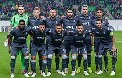 November 8, 2018 - Budapest, Hungary - FC PAOK Team before the UEFA Europa League Group L match between MOL Vidi FC and FC PAOK at Groupama stadium on Nov 08, 2018 in Budapest, Hungary. (Credit Image: © Robert Szaniszlo/NurPhoto via ZUMA Press)