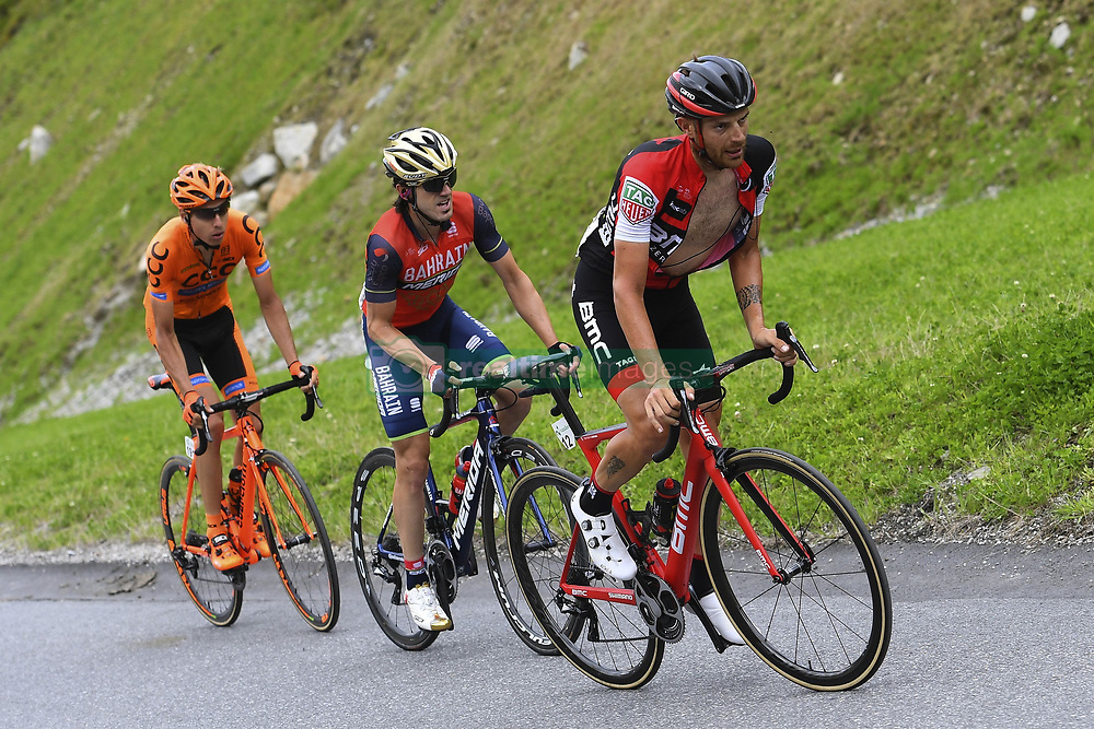 June 16, 2017 - Solden, Suisse - SOLDEN, AUSTRIA - JUNE 16 : CARUSO Damiano of BMC Racing Team, IZAGIRRE Ion of Bahrain Merida Pro Cycling Team during stage 7 of the Tour de Suisse cycling race, a stage of 160 kms between Zernez and Solden on June 16, 2017 in Solden, Austria, 16/06/2017 (Credit Image: © Panoramic via ZUMA Press)