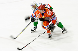 Ziga Jeglic of Jesenice during ice-hockey match between HK Acroni Jesenice and HDD Tilia Olimpija in fourth game of Final at Slovenian National League, on April 8, 2011 at Arena Podmezakla, Jesenice, Slovenia. (Photo by Vid Ponikvar / Sportida)