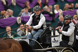 17.01.2016, Neue Messe, Leipzig, GER, FEI World Cup Driving, im Bild Fahrer Rainer Duen (GER) // during the FEI World Cup Driving at the Neue Messe in Leipzig, Germany on 2016/01/17. EXPA Pictures © 2016, PhotoCredit: EXPA/ Eibner-Pressefoto/ Modla<br /> <br /> *****ATTENTION - OUT of GER*****