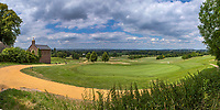 Margraten  - Panorama Green hole 9 .  met bidkapel en Lourdesgrot (l) . Rijk van Margraten.  COPYRIGHT KOEN SUYK