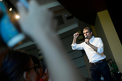Beto O'Rourke gives a speech during a campaign stop in State College, PA on March 19, 2019. The candidate from El Paso, TX is the first Democratic candidate to campaign in the Keystone State during a multi-day, multi-state road trip that includes stops in Iowa, Pennsylvania and New Hampshire.