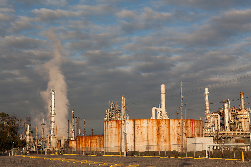"""Motiva refinery in Norco, Louisiana  located in the stretch between Baton Rouge and New Orleans along the river, is part of a large concentration of chemical and oil companies that was formerly referred to as the """"Petrochemical Corridor,"""" but now is know as """"Cancer Alley.""""  Many cases of cancer have occurred  in communities on both sides of the river though the Louisiana Tumor Registry claims the numbers are not higher then the national average. The record high levels of the Mississippi River in the spring of 2011 brought on by what some scientists clasify as climate change,  threaten the environment with the potential flooding of industrial complexes and nuclear facilities along the river."""