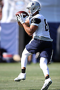 Dallas Cowboys tight end Gavin Escobar (89) catches a pass during the second day of the Dallas Cowboys 2016 NFL training camp football practice held on Sunday, July 31, 2016 in Oxnard, Calif. (©Paul Anthony Spinelli)