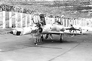 Israeli Air Force Dassault Mirage IIIC fighter plane - Archival Black and white Image ..