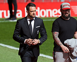 LIVERPOOL, ENGLAND - Sunday, April 10, 2016: Liverpool's Danny Ings arrives before the Premier League match against Stoke City at Anfield. (Pic by David Rawcliffe/Propaganda)