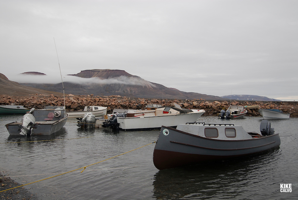 Coastal Inuit community of Arctic Bay. Lancaster Sound. HIgh Arctic. Baffin Island. Canada.