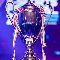 The SHERO Invitational's trophy of the E-Sports Festival 2017 Hong Kong at the Hong Kong Convention and Exhibition Centre on 26 August 2017 in Hong Kong, China. Photo by Yu Chun Christopher Wong / studioEAST